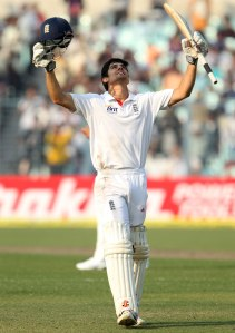 Captain Cook...Alastair Cook led from the front with three hundreds in his side's series win in India.