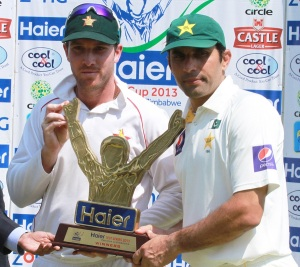 Leading from the front....Brendan Taylor, left, remains key to future Zimbabwe success.