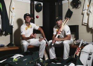 Jury still out....Brother's Mitchell and Shaun Marsh prepare to play their first Test together.