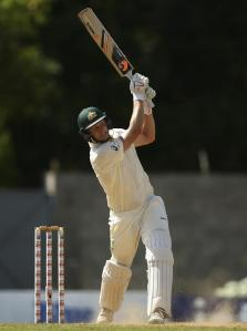 Adam Voges on his way to a debut hundred in Dominica.