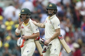 The left-handed pair walk out ,for what could be the final time together, during The Oval Test.